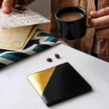 Nordic Geometric Ceramic Coaster