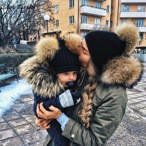 Baby and Mom Matching Winter Hats