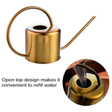 Golden Stainless Steel Garden Watering Can