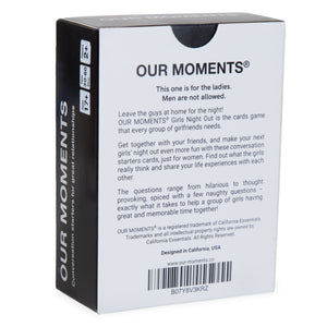 Girls Night Out Edition - Our Moments - Conversation Starters For Great Relationships