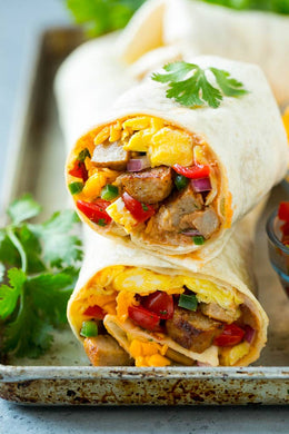 Sausage and Spinach Breakfast Wrap