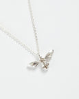 Silver Pave Bee Short Necklace