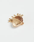 Gold Acorn Brooch