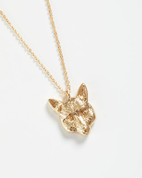 Gold Fox Short Necklace