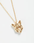 Gold Fox Long Necklace