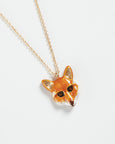 Enamel Fox Long Necklace