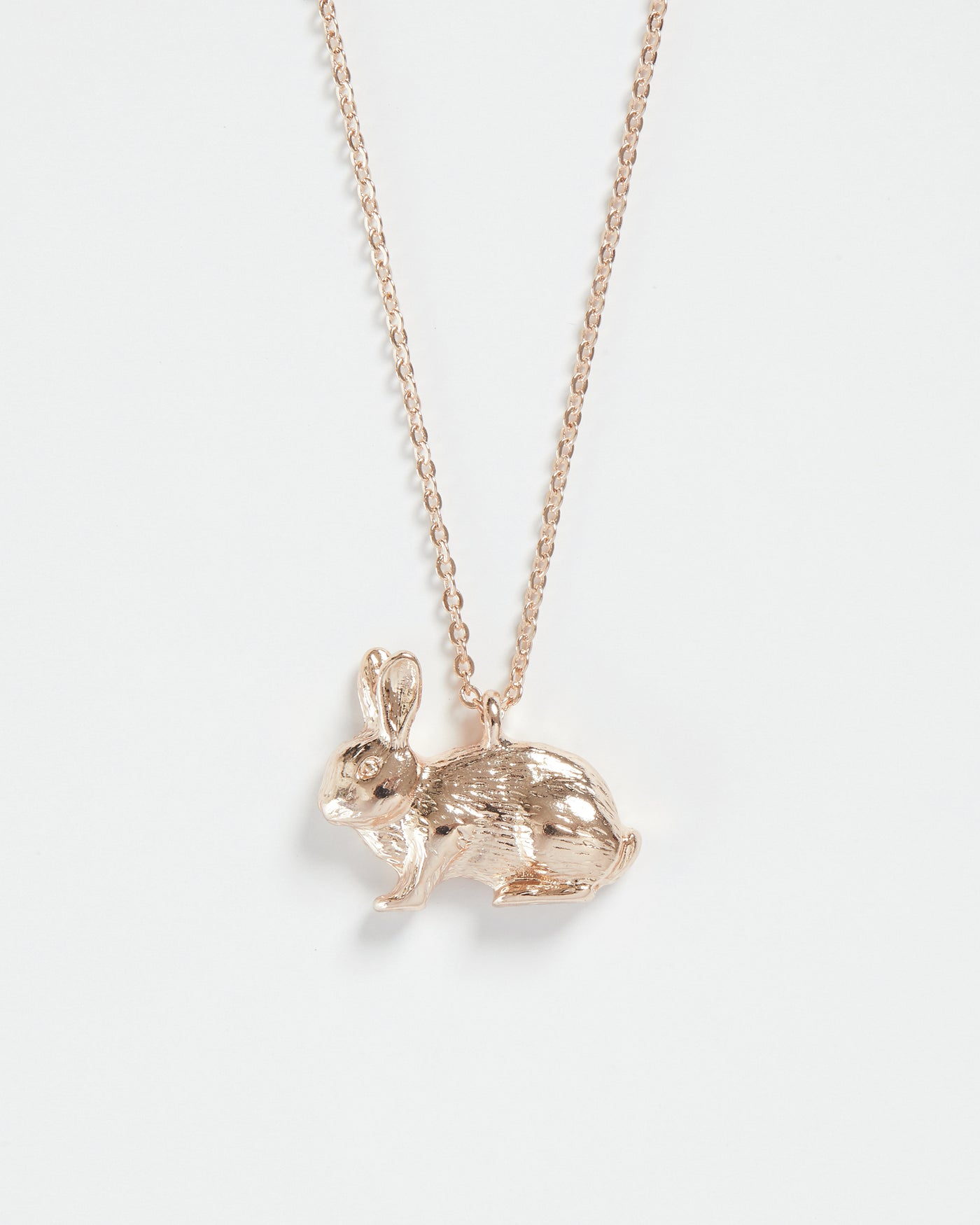 Rose Gold Rabbit Long Necklace