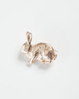 Rose Gold Rabbit Brooch