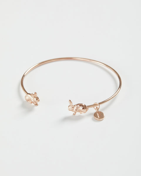 Rose Gold Rabbit Bangle
