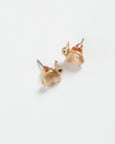 Enamel Rabbit Stud Earrings