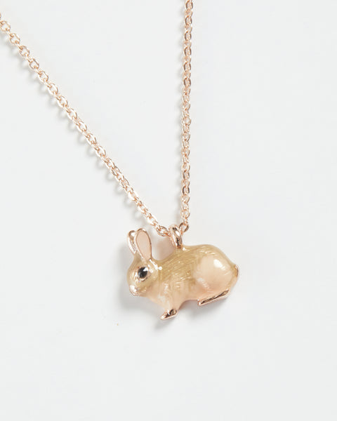 Enamel Rabbit Short Necklace