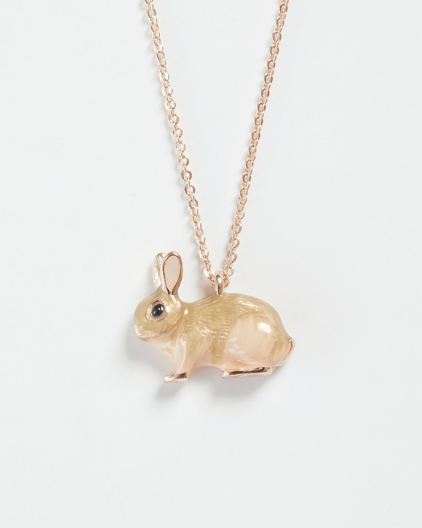 Enamel Rabbit Long Necklace