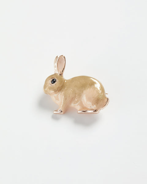 Enamel Rabbit Brooch