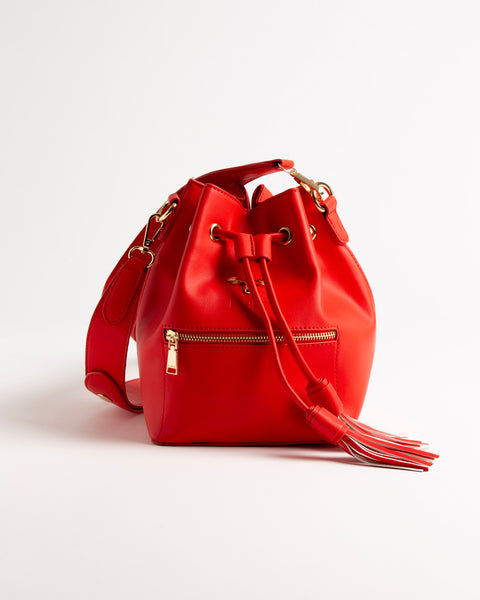 Red Rose Bucket Bag