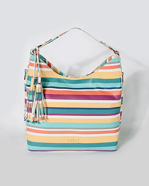 Stripe Whitby Hobo Bag
