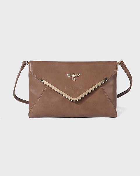 Tan Sandbanks Envelope Clutch