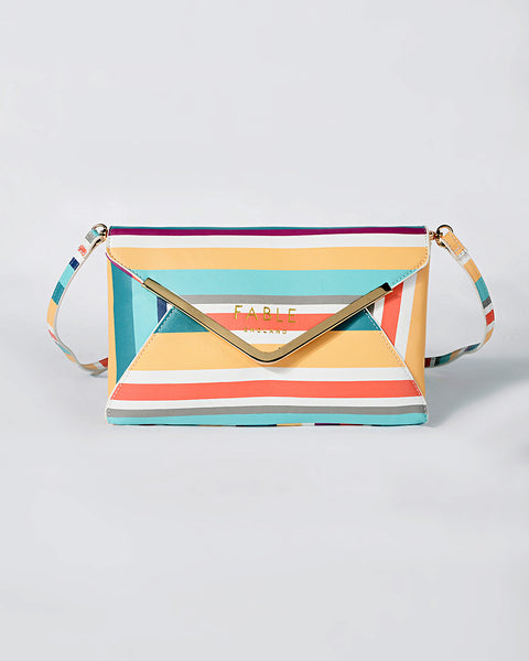 Stripe Sandbanks Envelope Clutch