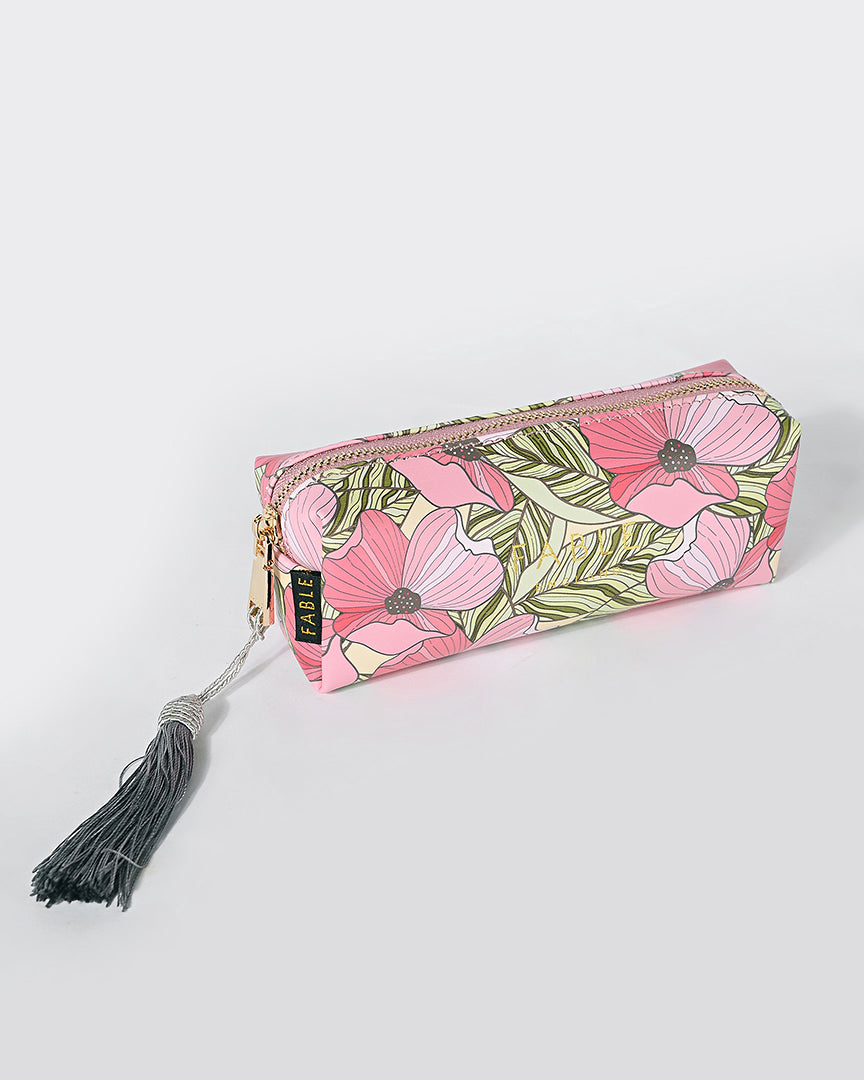 Summer Poppy Pencil Case/Makeup Bag