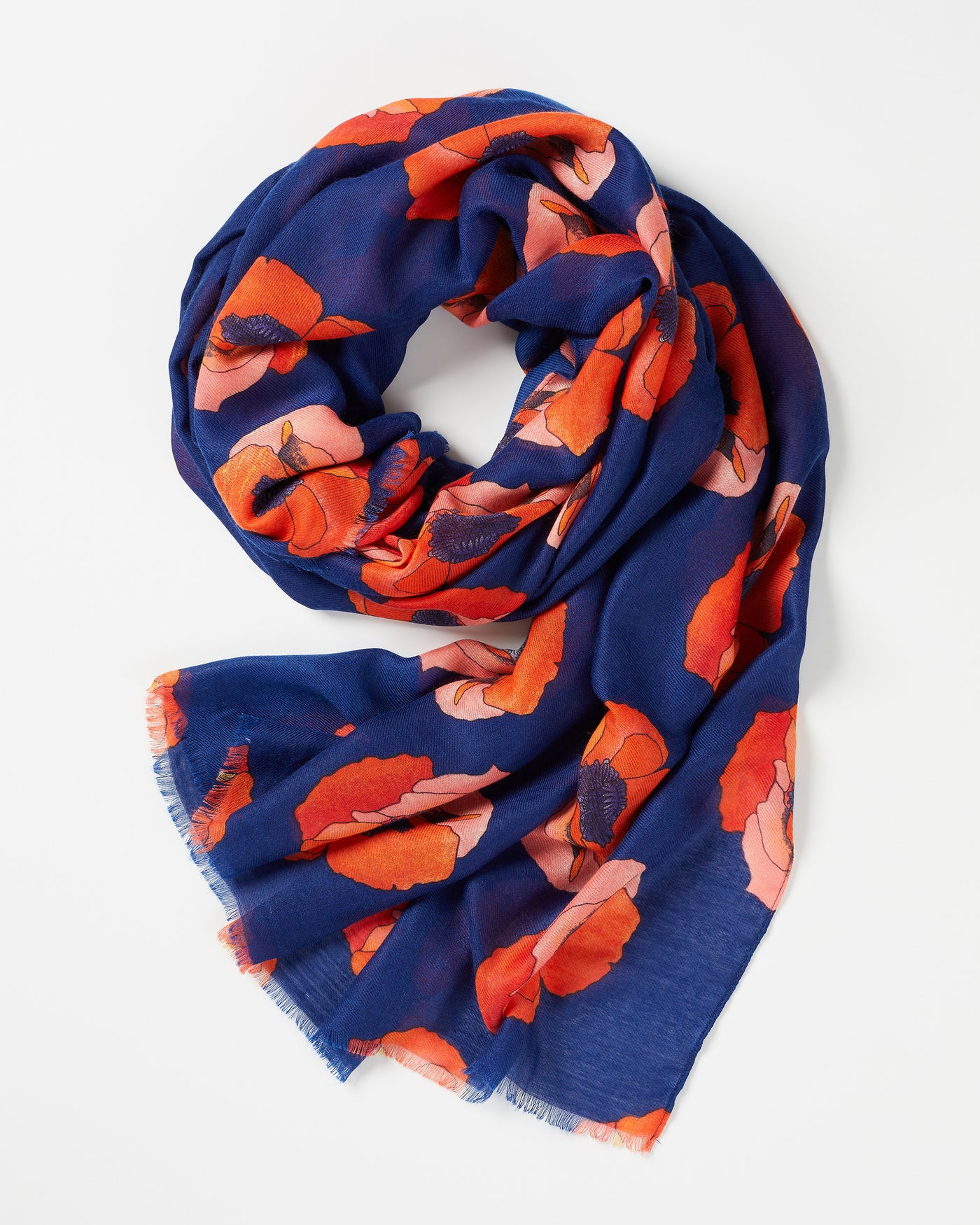 Navy Perfect Poppy Scarf