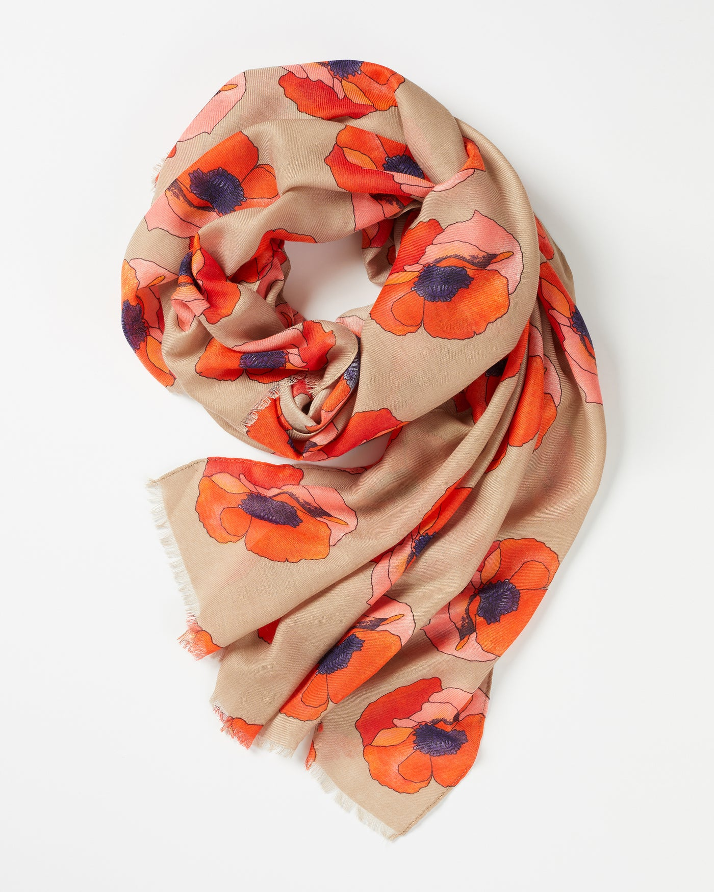 Beige Perfect Poppy Scarf