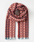 Red Chevron Scarf