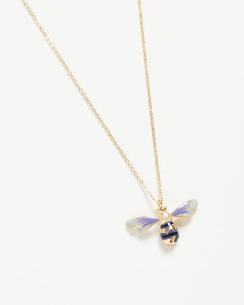 Enamel Long Bee Necklace