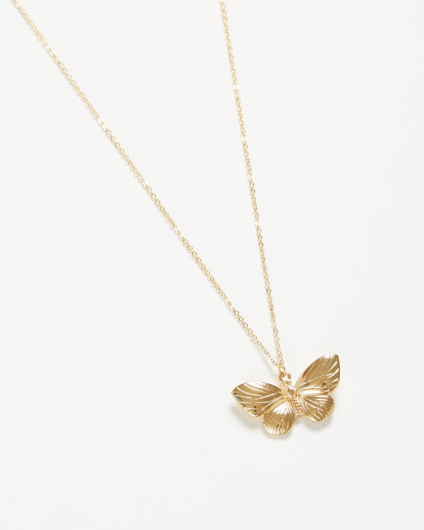 Gold Butterfly Long Necklace