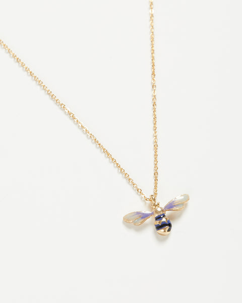 Enamel Short Bee Necklace