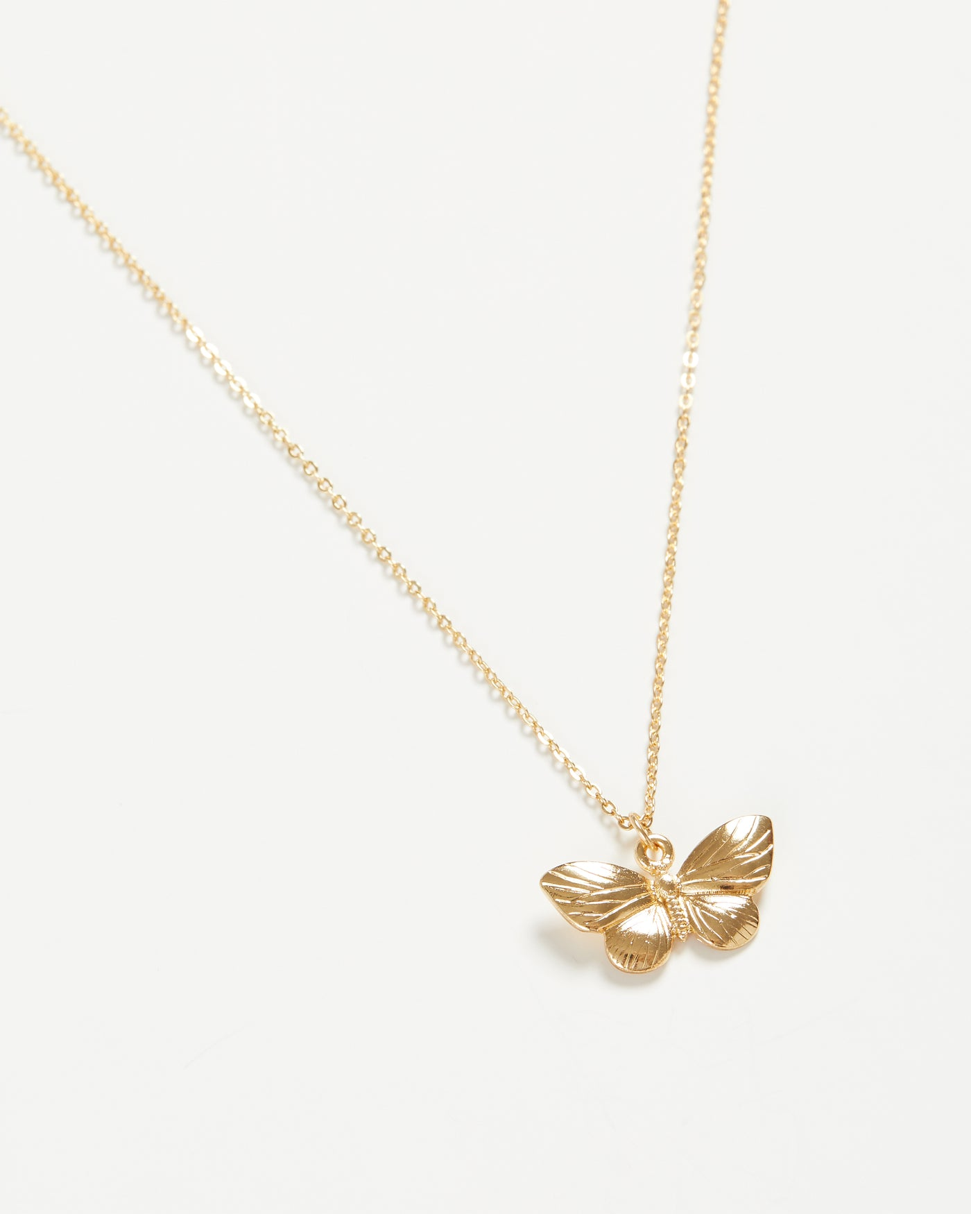Gold Butterfly Short Necklace
