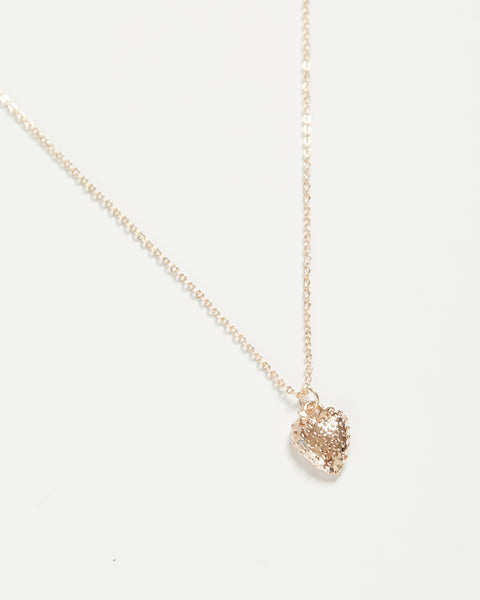 Rose Gold Strawberry Short Necklace