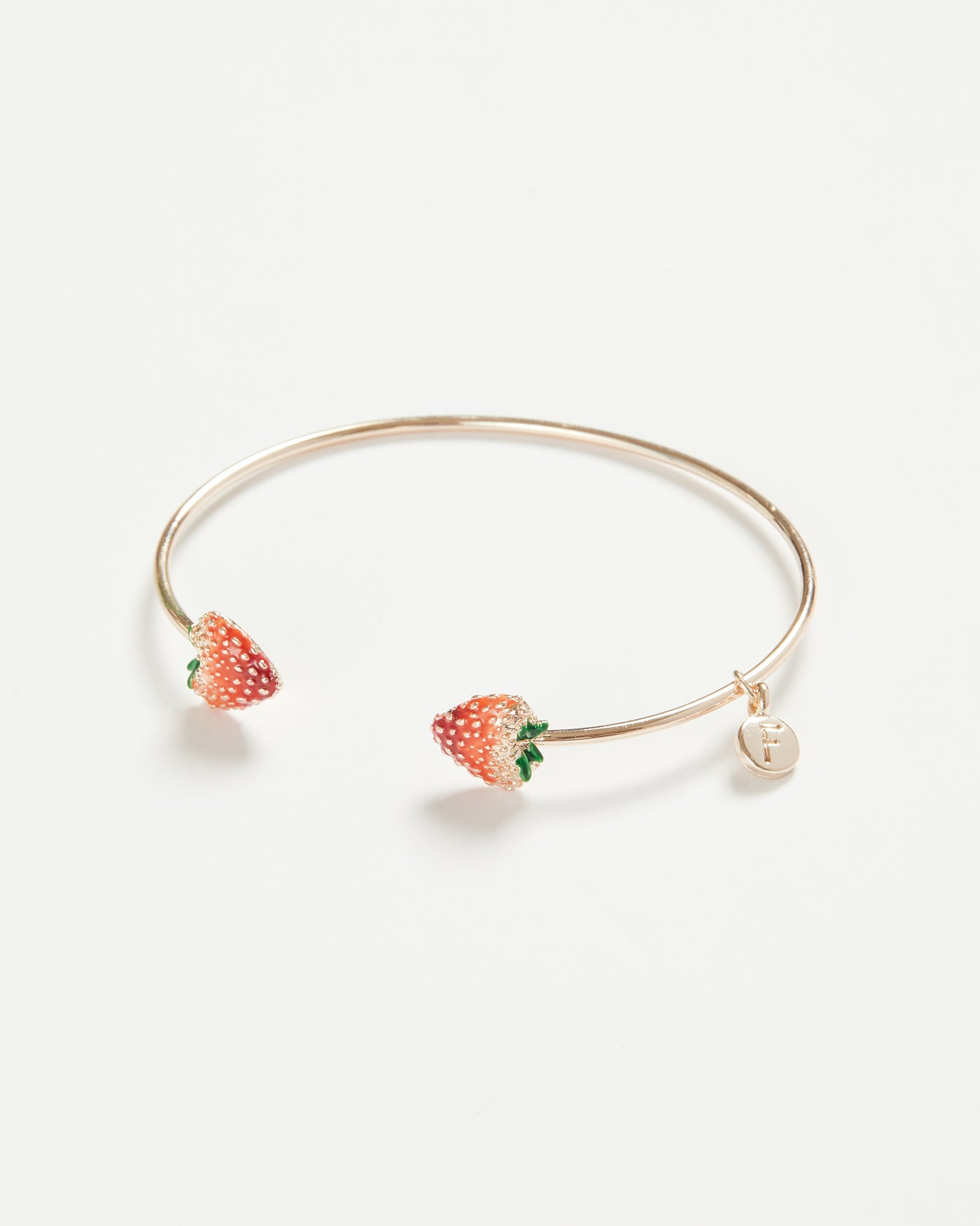 Enamel Strawberry Bangle