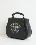 Black Signature Bee Vintage Purse Bag