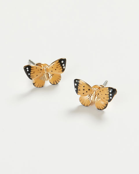 Enamel Butterfly Stud Earrings