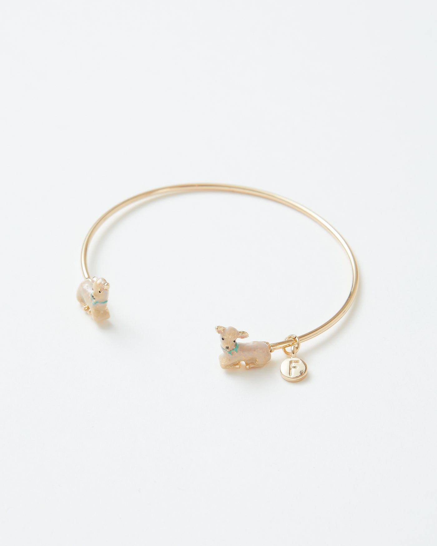 Enamel Lamb Bangle