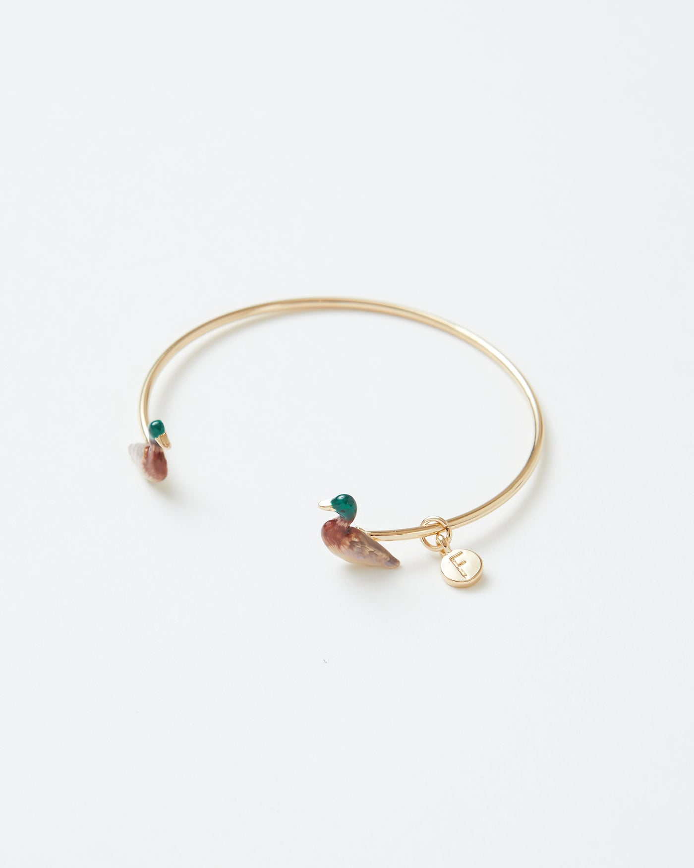 Enamel Mallard Duck Bangle