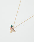 Enamel Mallard Duck Long Necklace