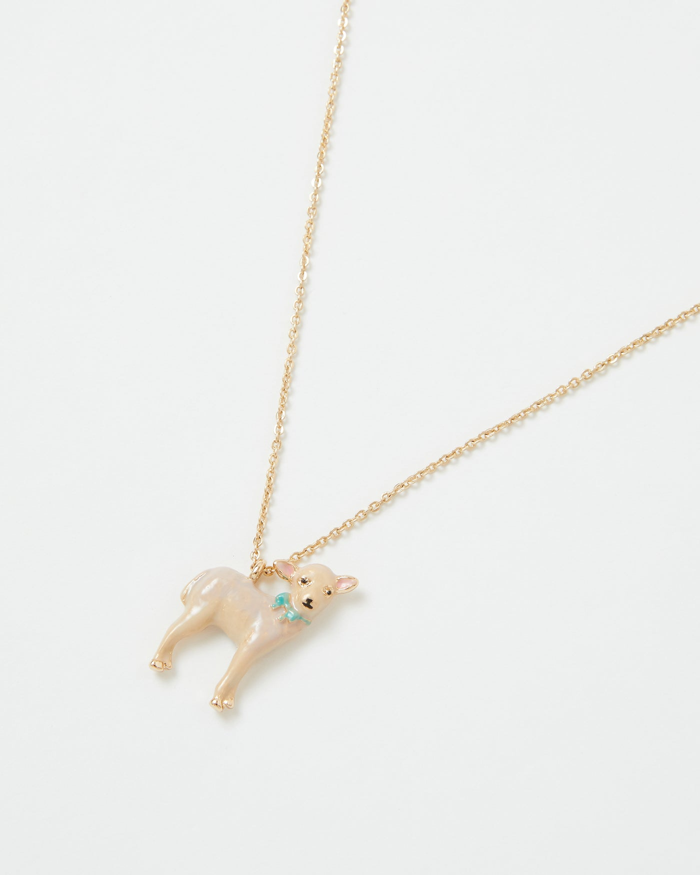 Enamel Lamb Short Necklace