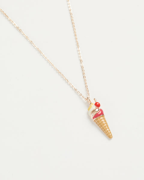 Enamel Ice-Cream Long Necklace
