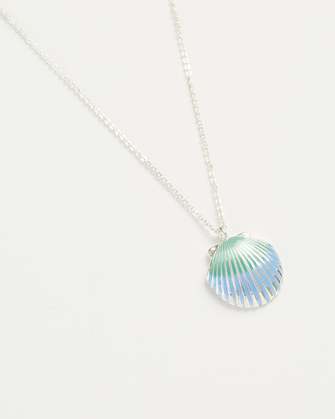Enamel Shell Long Necklace