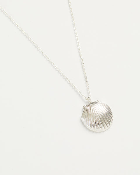 Silver Shell Long Necklace