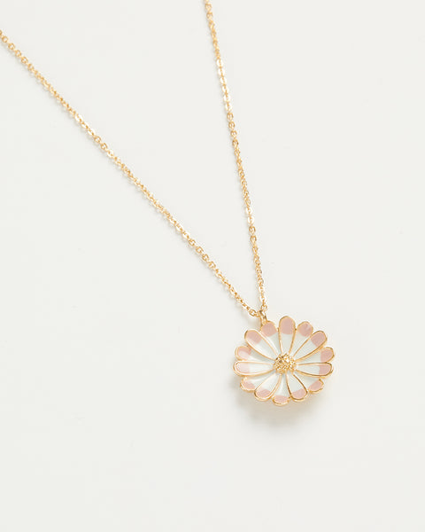 Enamel Daisy Long Necklace