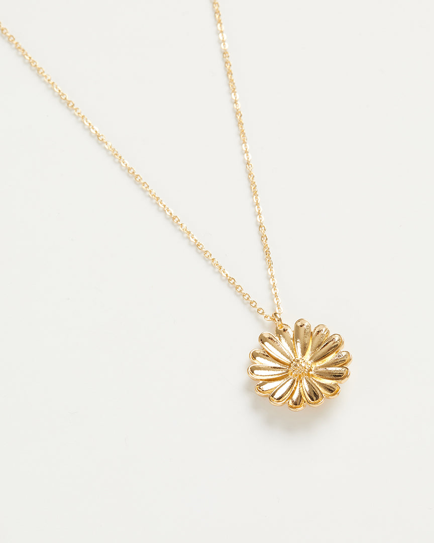 Gold Daisy Long Necklace