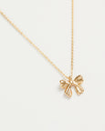Gold Bow Short Necklace