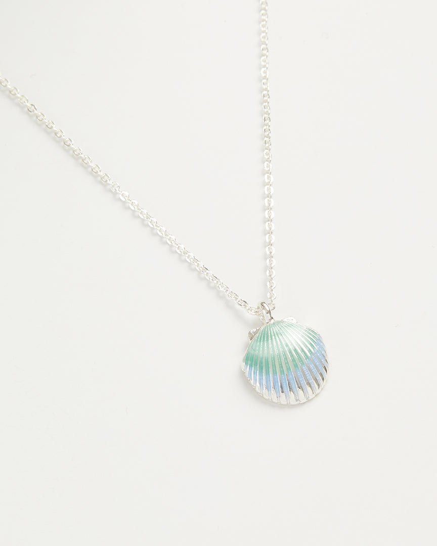 Enamel Shell Short Necklace