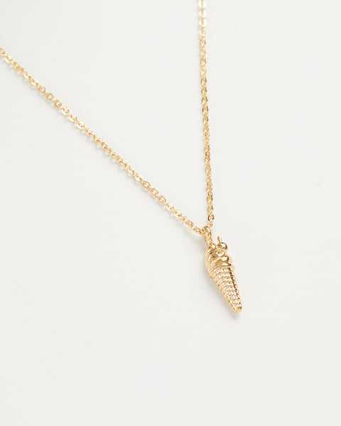 Gold Ice Cream Short Necklace