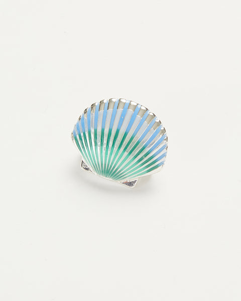 Enamel Shell Brooch