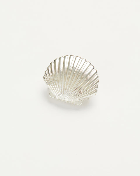 Silver Shell Brooch