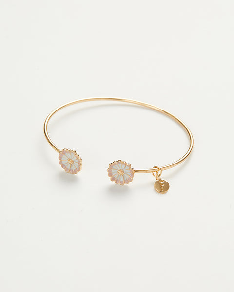 Enamel Daisy Bangle