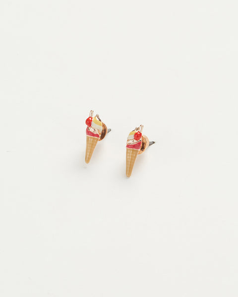 Enamel Ice Cream Earrings