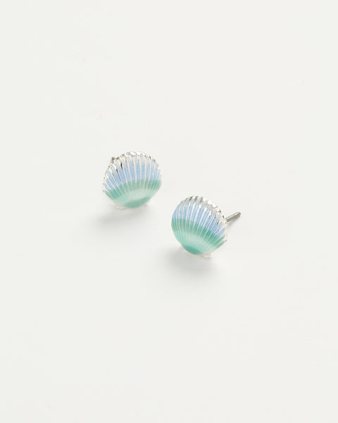 Enamel Shell Earrings